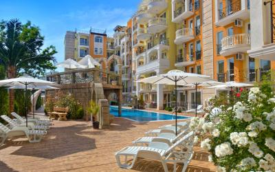 Cheap luxury and furnished 1-bedroom apartment in Sunny Beach